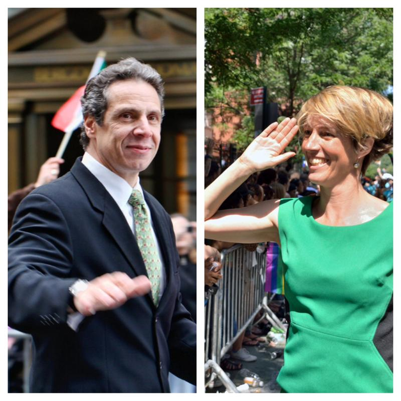 Governor Andrew Cuomo and Democratic challenger Zephyr Teachout