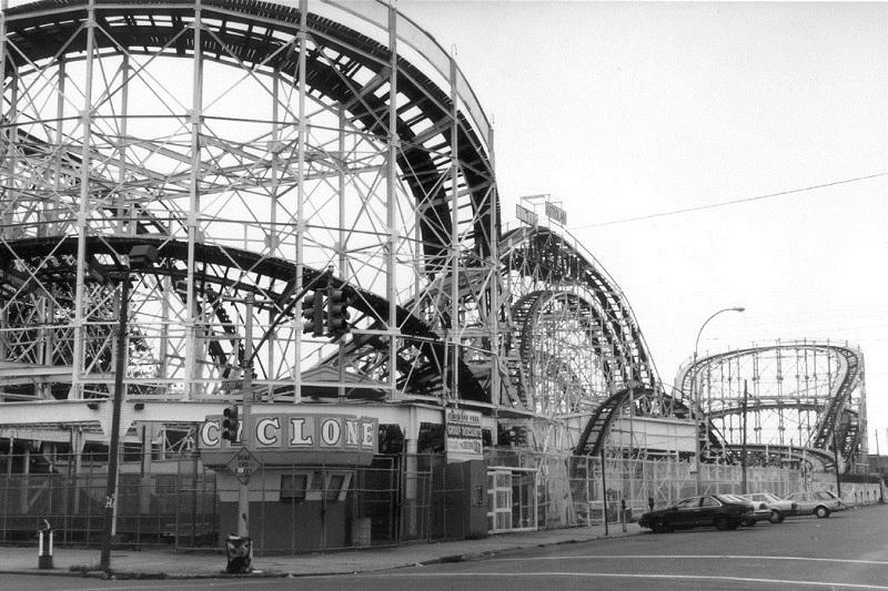The Coney Island Cyclone wooden roller coaster first opened on June 26, 1927.