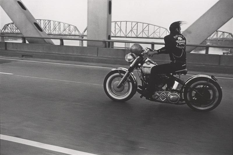 "Danny Lyon, ""Crossing the Ohio River, Louisville,"" 1966. Vintage gelatin silver print. 20.3 × 31.8 cm (8 × 12 1/2 in.). Silverman Museum Collection."