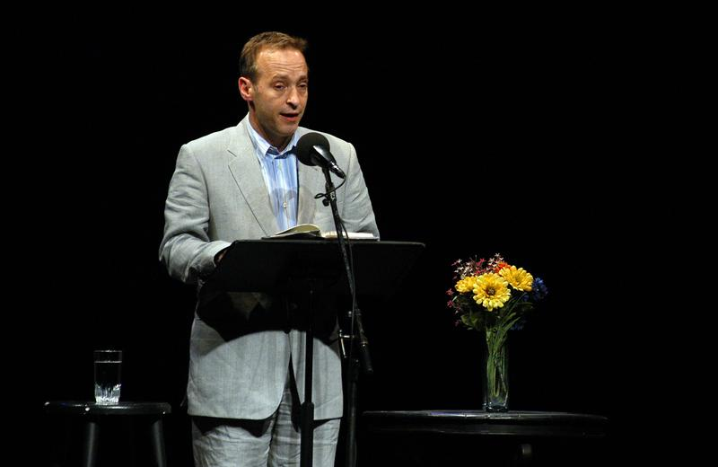 Author David Sedaris Reads a short story for Selected Shorts at Symphony Space.