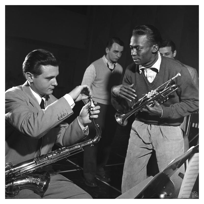 Stan Getz and Miles Davis at Metronome All Star session, January 23, 1951