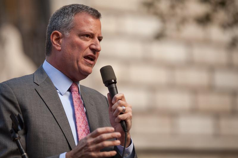 New York Mayor Bill de Blasio says proposed cuts to homeland security programs would hurt the city's ability to keep residents safe.