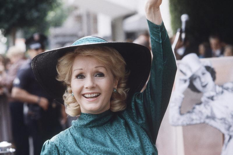 Feb. 15, 1984. Debbie Reynolds appears at Hollywood Walk of Fame ceremonies in Los Angeles.