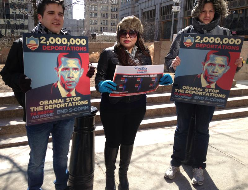 Immigration Advocates Protest Deportations In Federal Plaza Last Month.
