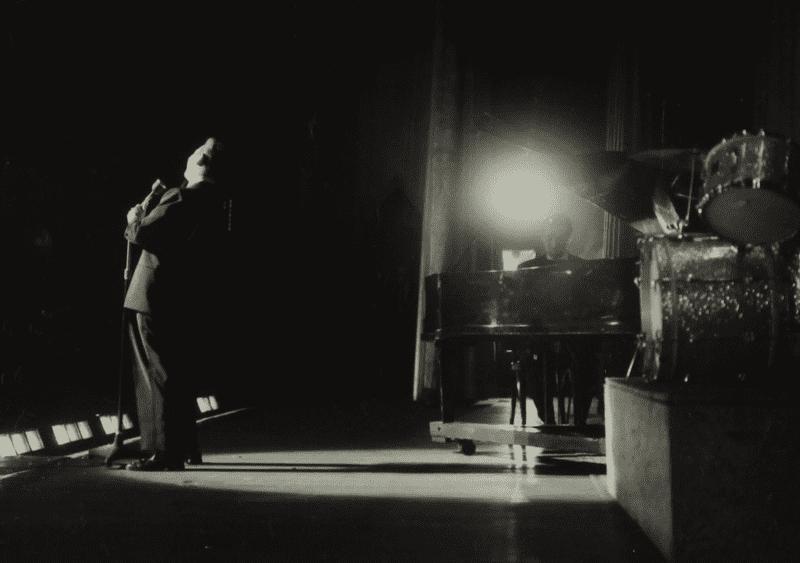 Mel Torme in concert at the Bristol Hippodrome, 1950s.