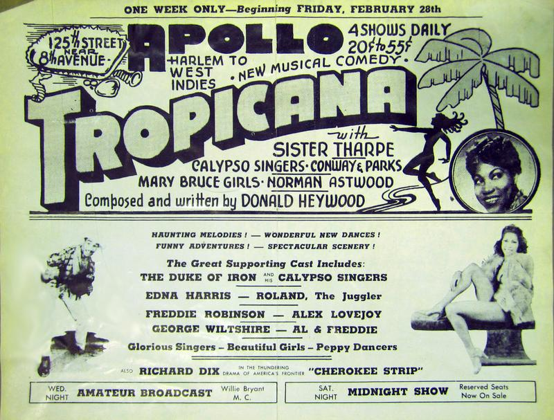 Handbill for the Apollo Theater, 1941.