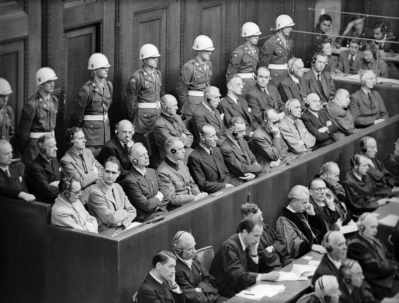Articles of accusation presented against Nazi war criminals at Nuremberg include crimes against peace, war crimes with collective assassinations, torture, slavery, pillage and crimes against Humanity.