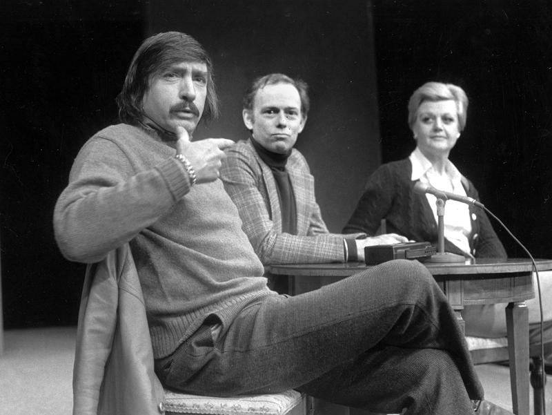 Jan. 27, 1977: Edward Albee, Paul Weidner, Angela Lansbury,  during a news conference in Hartford, Conn.