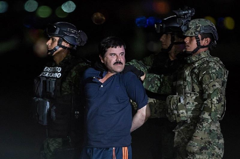 Joaquin Guzman Loera, also known as 'El Chapo' is transported to Maximum Security Prison of El Altiplano in Mexico City, Mexico on January 08, 2016.