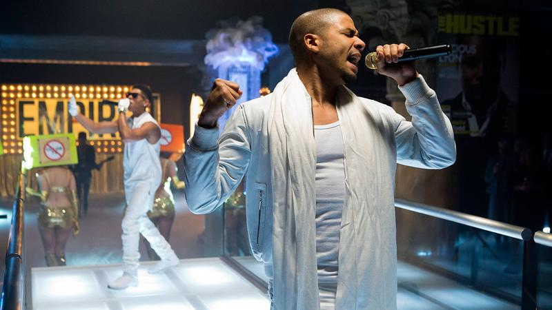 Jussie Smollett (r) performs in EMPIRE.
