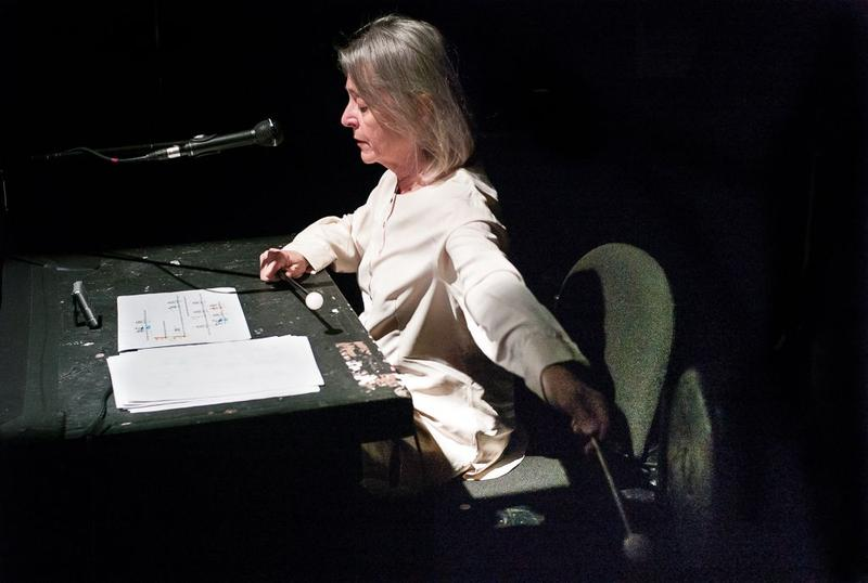 """Joan La Barbara performs John King's """"Ping"""" at Experiments in Opera Radio Opera series at Abrons Art Center"""