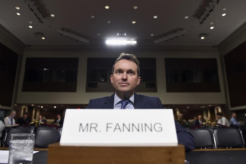 Army Secretary nominee Eric Fanning, a close civilian adviser to Defense Secretary Ash Carter, arrives on Capitol Hill in Washington, 1/21/16, to testify before the Senate Armed Services Committee.