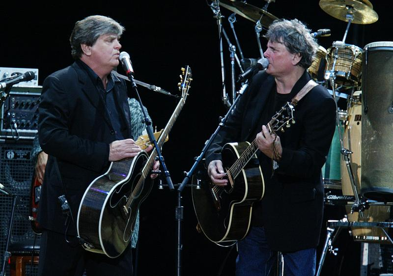 Don and Phil Everly of The Everly Brothers perform in Hyde Park, London on July 15, 2004.