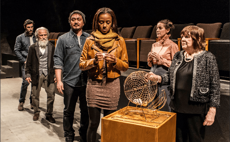 """The cast of """"Everybody"""" by Branden Jacobs-Jenkins at Signature Theatre"""