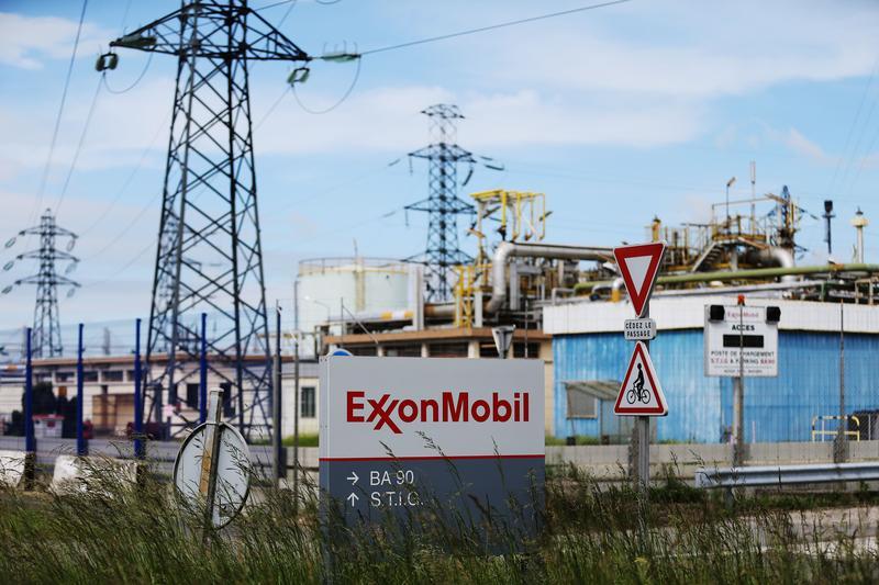 An ExxonMobil refinery in France.