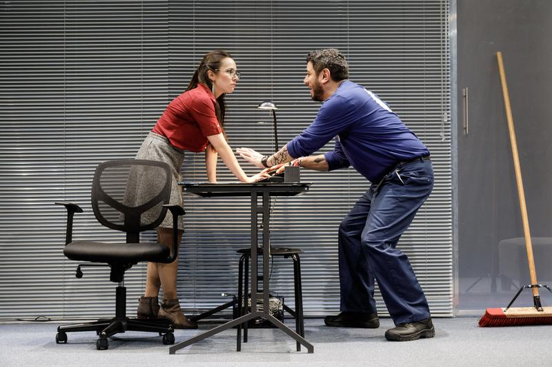 Annie Dow and Eddie Martinez in Tanya Saracho's FADE at Primary Stages.