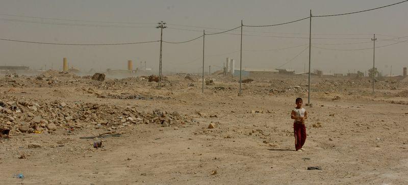 Destruction in Fallujah in 2007.