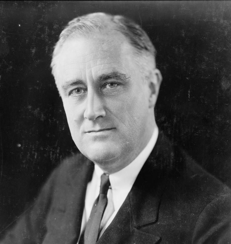 Franklin D.  Roosevelt in 1933.