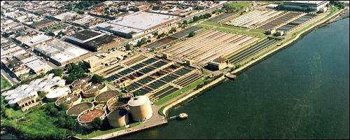 Hunts Point wastewater treatment plant