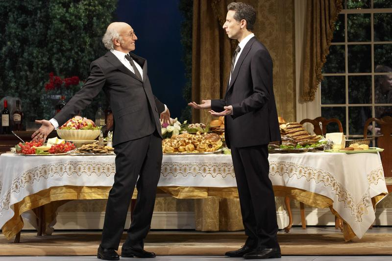 Larry David as Norman Drexel and Ben Shenkman as Arthur Drexel in 'Fish in the Dark.'