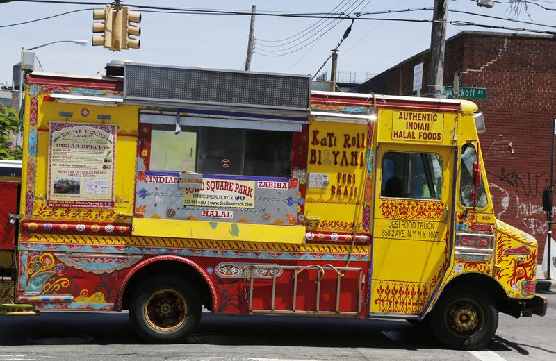 Famous Desi Food Truck in East Williamsburg, Brooklyn on June 1, 2014.