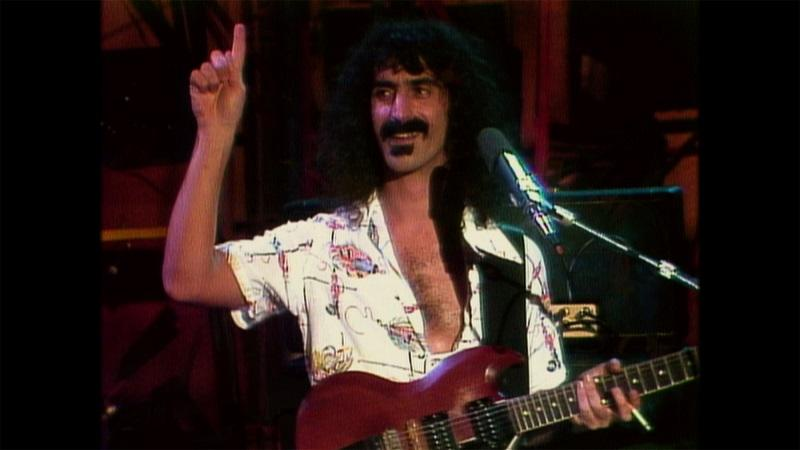 Frank Zappa performs.