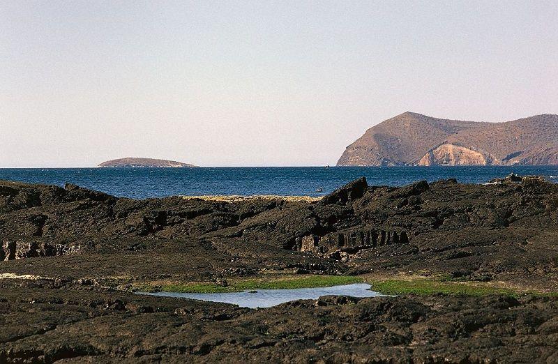 View of San Salvador island, Galapagos islands, Ecuador.