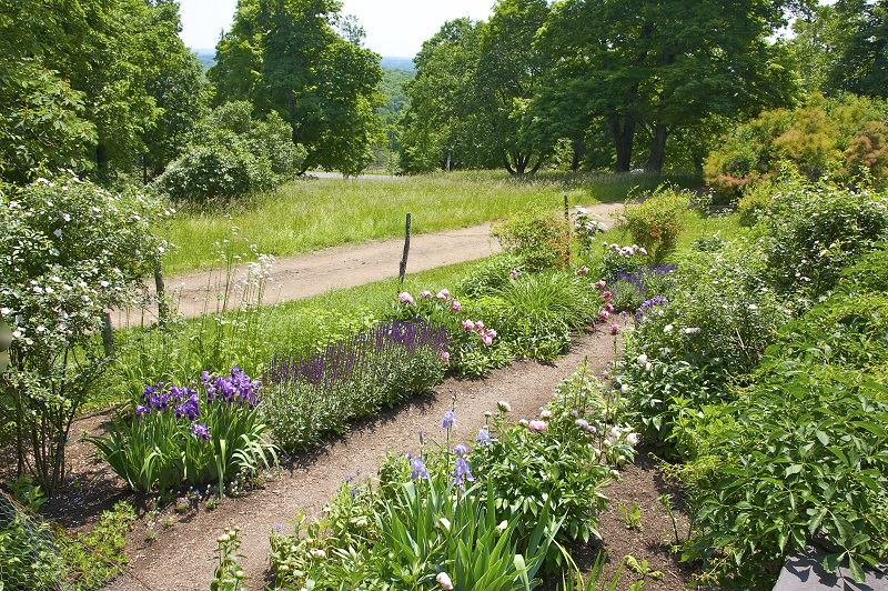 Perennial garden in June, Olana, home, studio and estate of the Hudson River School artist, Frederick Church, Hudson, Columbia County, New York.