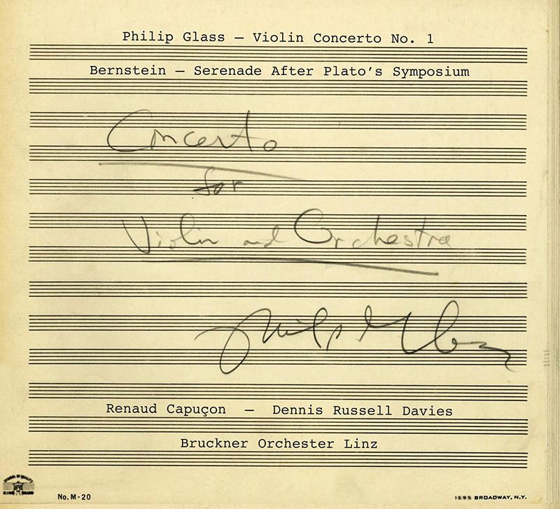 'Philip Glass and Leonard Bernstein: Violin Concertos'