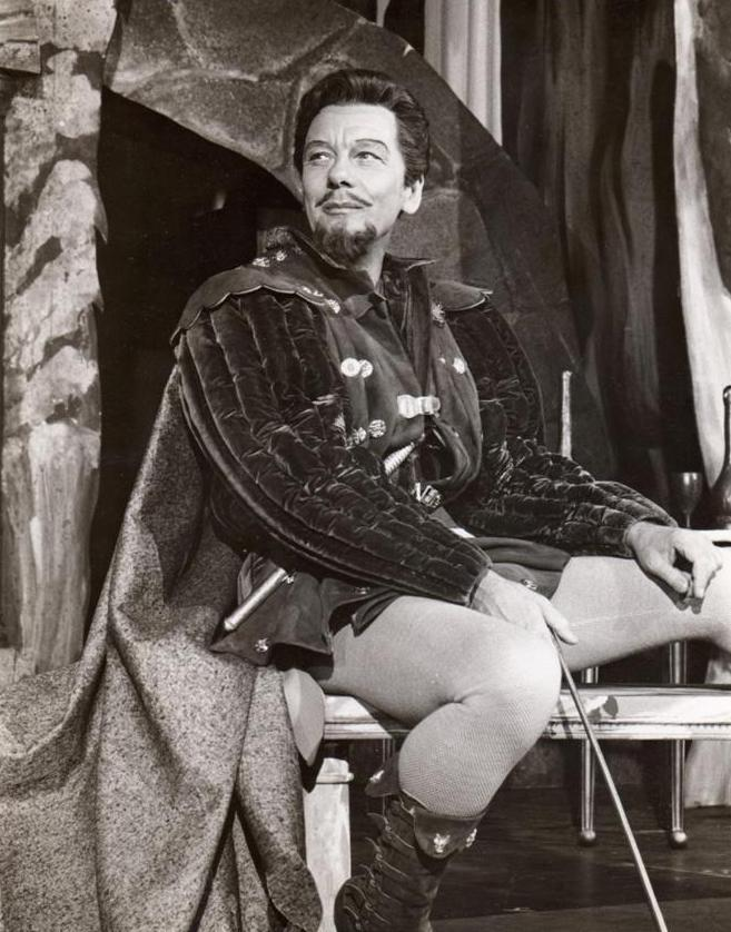 John Gielgud as Benedick in Much Ado About Nothing, 1959.