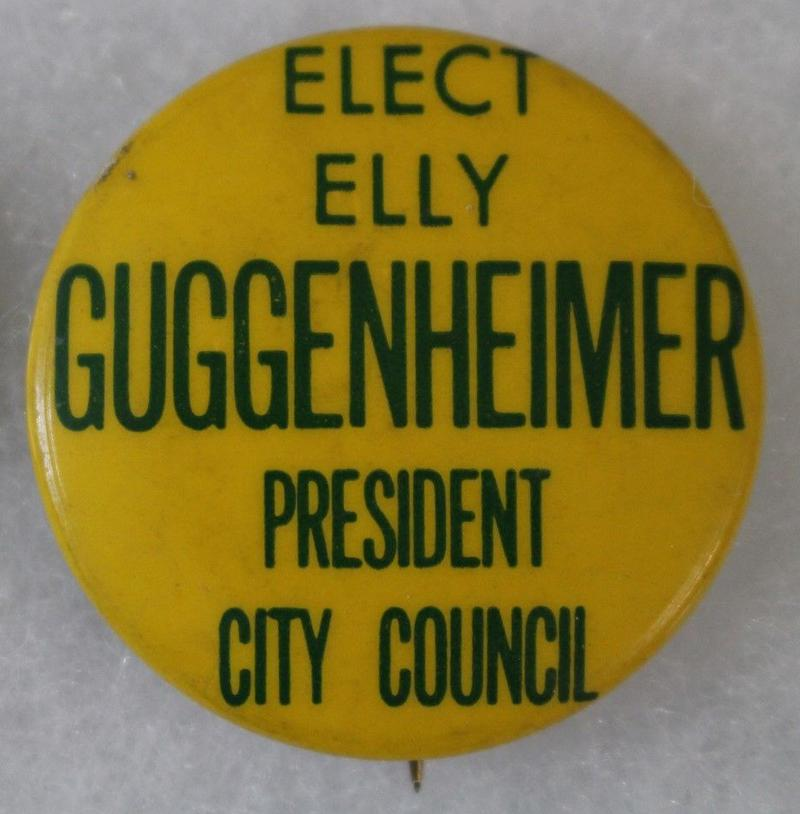 Elinor Guggenheimer ran for President of the New York City Council in 1969.