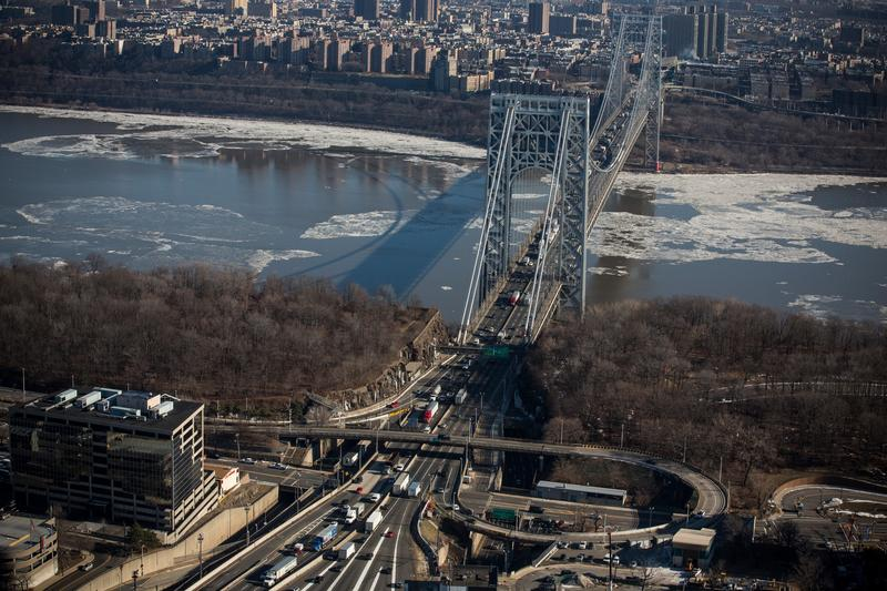 The George Washington Bridge, one of the Port Authority's Hudson River crossings
