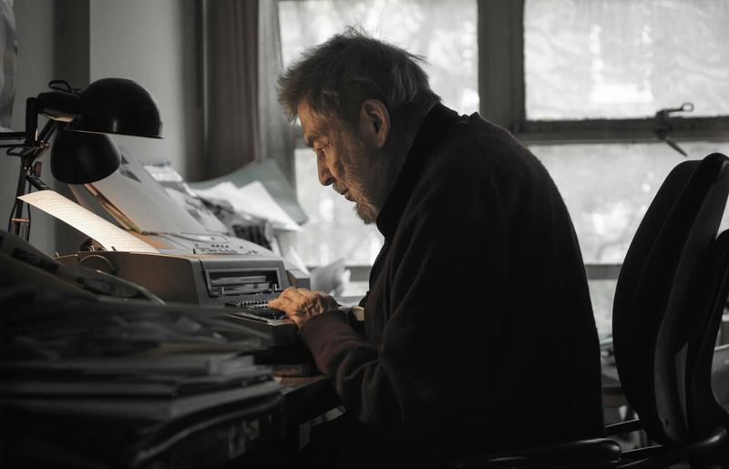 Nat Hentoff in his office in Greenwich Village in 2010, as seen in the documentary The Pleasures of Being Out of Step