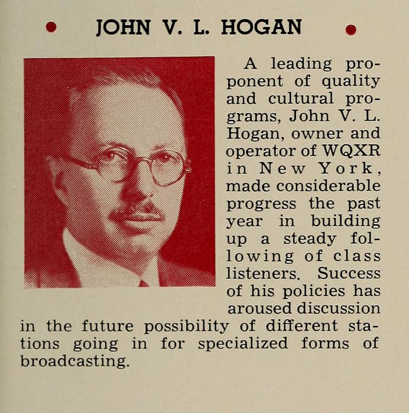 John Hogan featured in the 1938 Radio Annual.