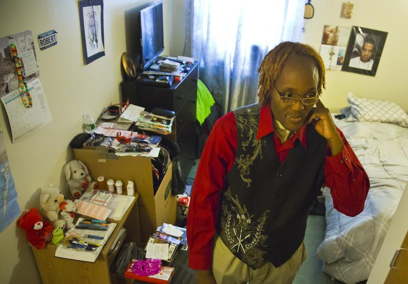 Robert Blake, 43, a resident of Haven apartments in the Bronx, who was formerly homeless.