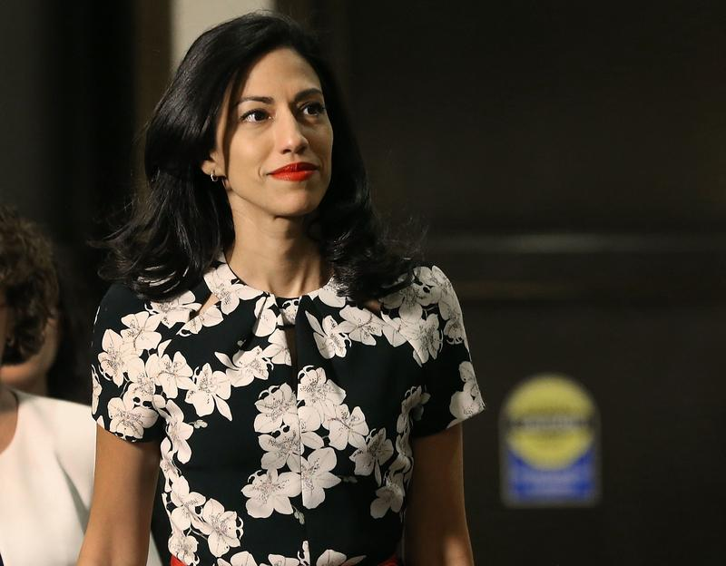 Huma Abedin, aide to former U.S. Secretary of State Hillary Clinton, arrives at a closed door hearing on Capitol Hill October 16, 2015 in Washington, DC.