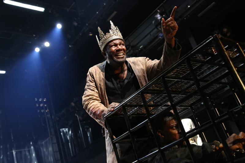 "John Douglas Thompson and Chukwudi Iwuji  in ""Tamburlaine the Great"""