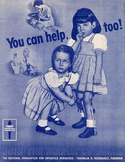 March of Dimes poster campaign from the 1950s.