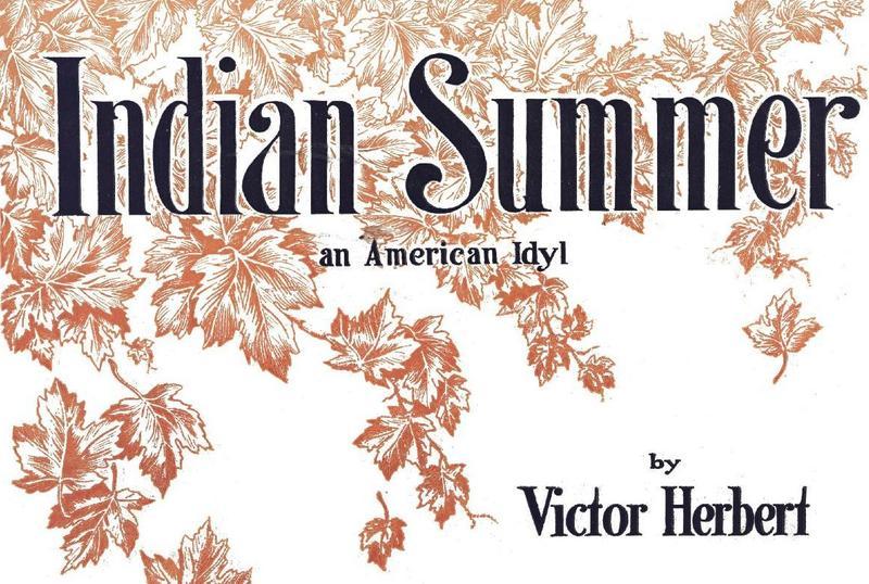 """Sheet Music of """"Indian Summer"""" (1919)"""