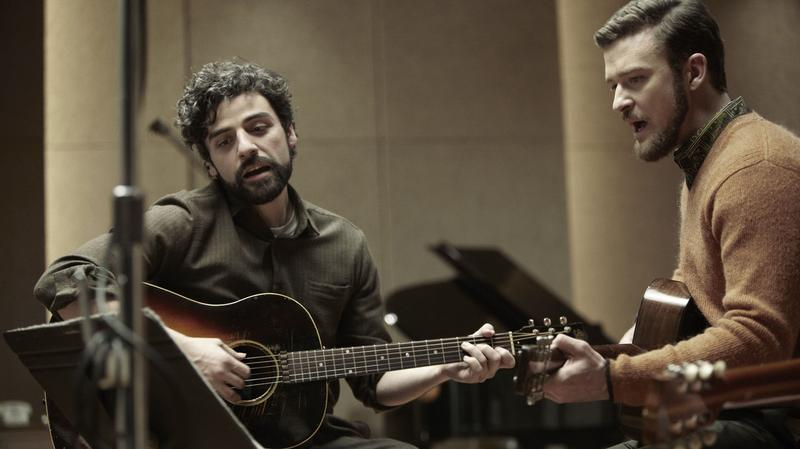 Oscar Isaac (left) and Justin Timberlake in a scene from Inside Llewyn Davis.