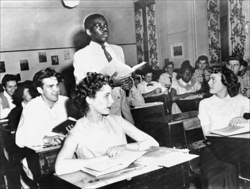 A classroom at the Saint-Dominique school in Washington, May 21, 1954.