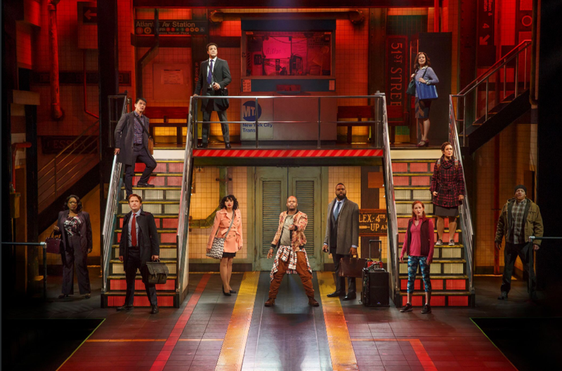"""The cast of """"In Transit"""" on Broadway"""