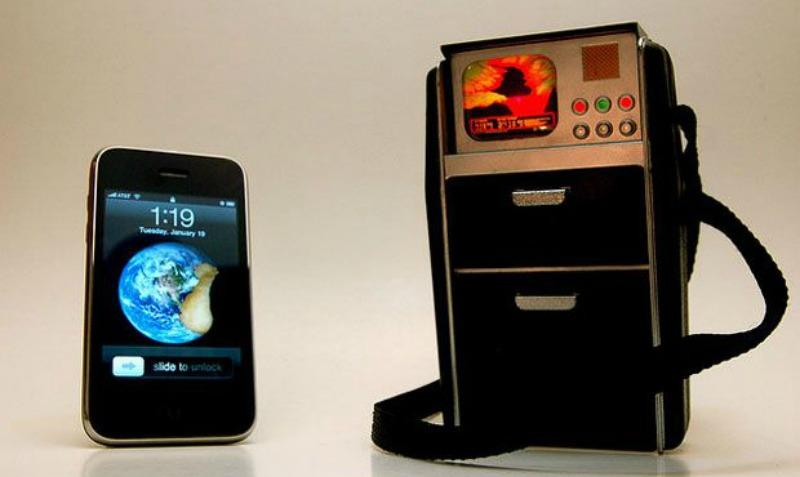 An iPhone and a <em>Star Trek</em>-inspired tricorder