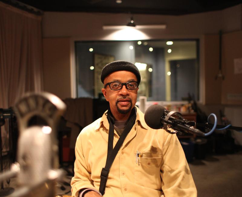 James McBride in the studio