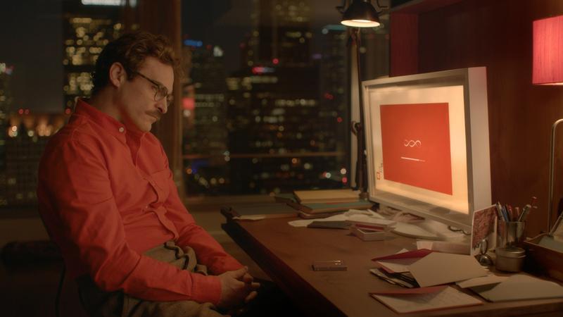 Joaquin Phoenix as Theodore in <em>Her</em>