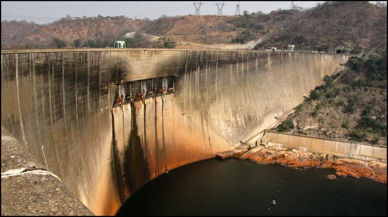 Lake Kariba dam on the border of Zambia and Zimbabwe.