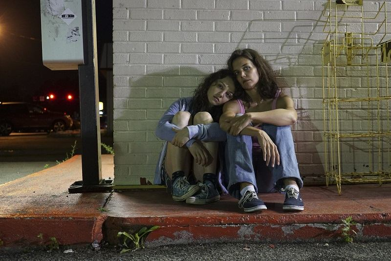 "Katie Holmes (right) and Stefania Owen (left) play a mother and daughter in ""All We Had,"" directed by Holmes."
