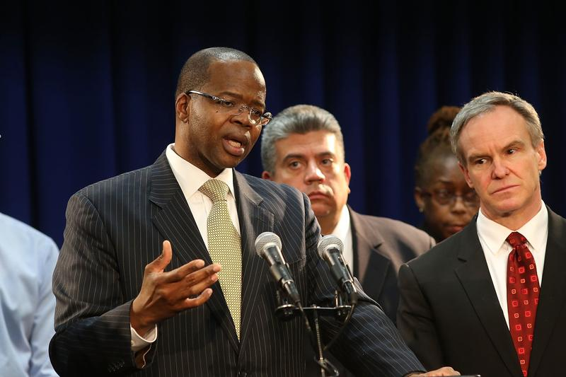 Brooklyn District Attorney Kenneth Thompson announces indictment of Police Officer Peter Liang in the Akai Gurley case.