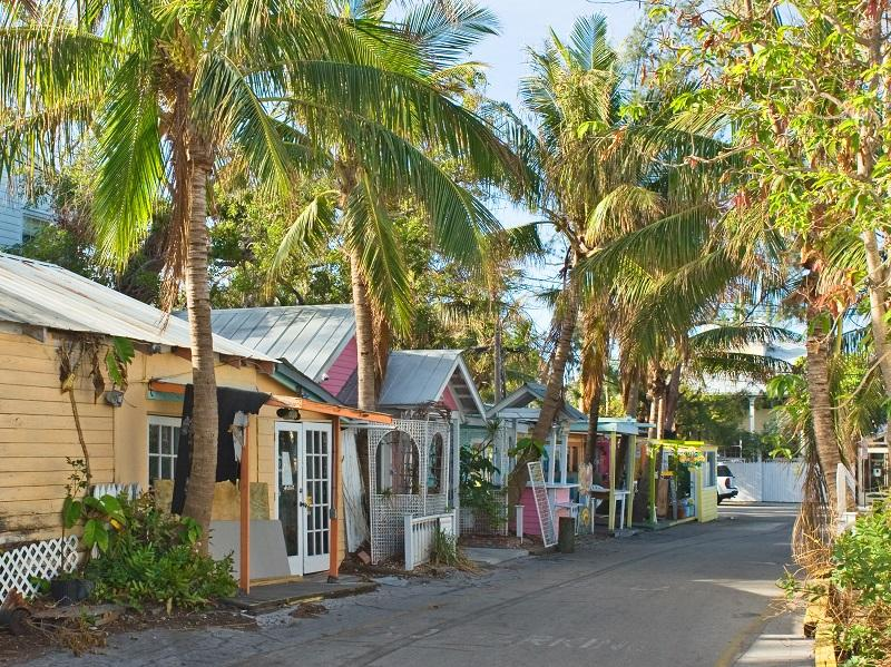 Lazy Day Lane, on The North Side Of Downtown Key West, Florida.