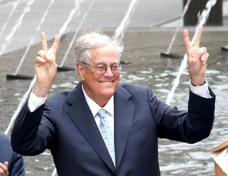 David H. Koch attends the unveiling of the David H. Koch Plaza at the Metropolitan Museum of Art on September 9, 2014 in New York City.
